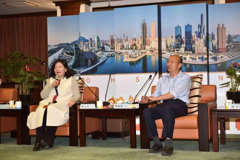韓國瑜(右)說,市府將醫療觀光視為市政推動第一優先項目,希望市府、醫界、觀光旅遊業者,集體進行有機的結合。(圖/徐炳文攝)