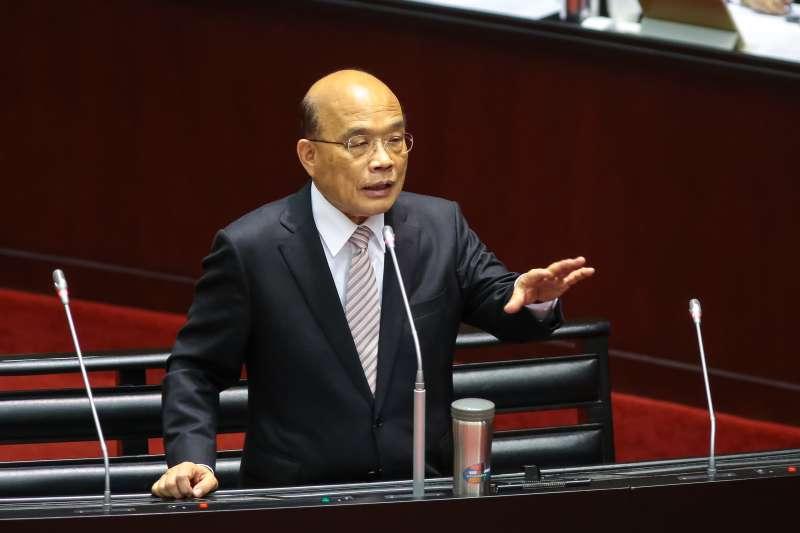 20190222-行政院長蘇貞昌22日於立院備詢。(顏麟宇攝)