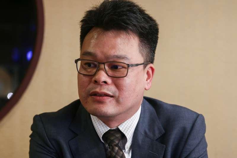 20190223-王隆昌23日接受專訪,圖為林俊宏律師。(蔡親傑攝)