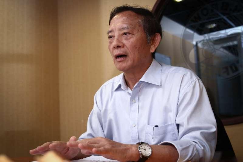 20190223-王隆昌23日接受專訪。(蔡親傑攝)