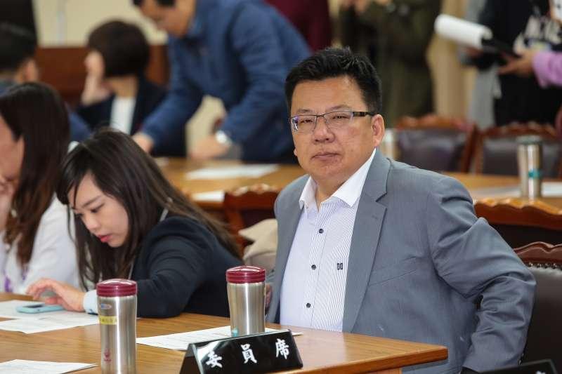 20190223-民進黨立委李俊俋23日出席內政委員會召委選舉。(顏麟宇攝)