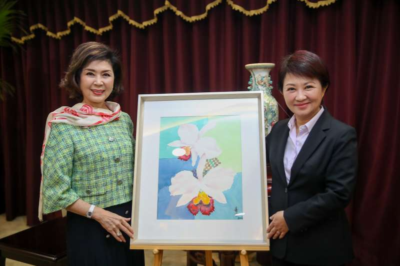20190225-長年旅居印尼,被封為「最美麗主持人」的白嘉莉今(25)日受邀回台擔任家鄉台中市的全球代言人。(台中市政府提供)