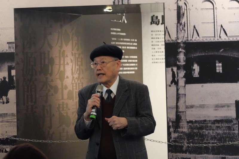 20190224-二二八事件受難者潘木枝之子潘信行,出席二二八國家紀念館「悲情車站」特展(謝孟穎攝)