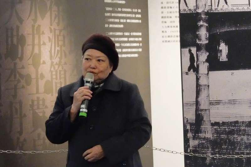 20190224-二二八事件高雄受難者林界之女林黎彩,出席二二八國家紀念館「悲情車站」特展(謝孟穎攝)