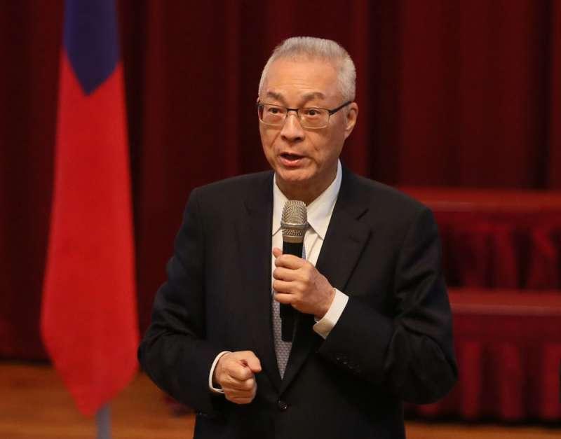吳敦義倡議的和平協議,事實上不可能為北京接受。(柯承惠攝)