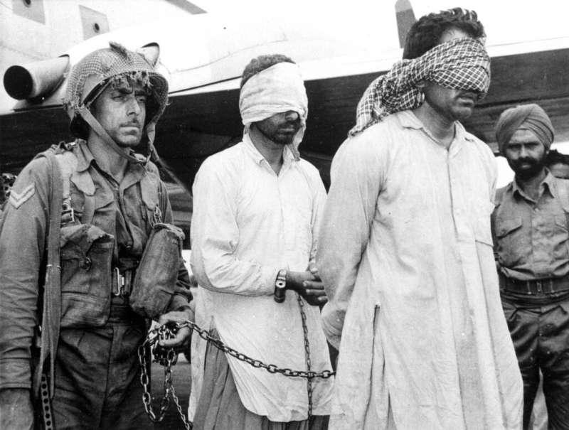 印巴衝突:1965年被印度俘虜的巴基斯坦官員。