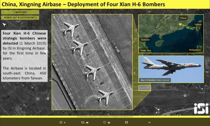 2019-03-05_高清衛星照曝光!共軍轟6K進駐廣東距台灣僅450公里。(取自商用衛星公司ImageSat Intl.推特)