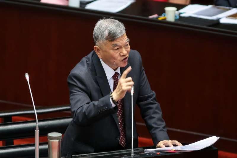 20190305-經濟部長沈榮津5日於立院備詢。(顏麟宇攝)