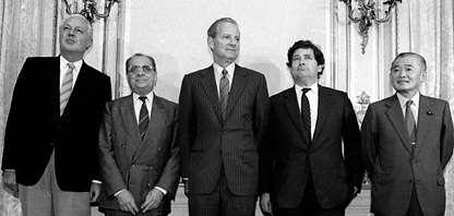 2019-03-05 日本於1986年與美國等其他多國簽訂《廣場協議》(Plaza Accord)(維基百科)