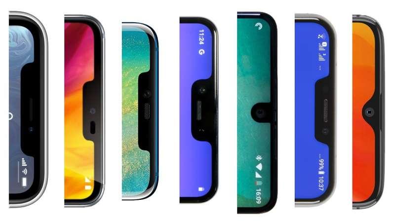 在 2018 年年初,各大廠模仿iPhone趨勢仍然十分明顯。(圖/愛范兒ifanr)