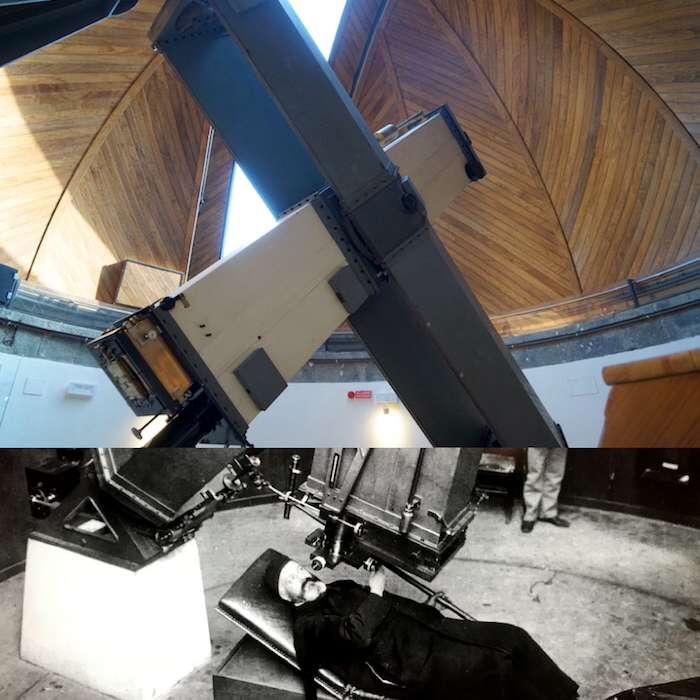 過去的科學會士所使用的望遠鏡。(曾廣儀攝)