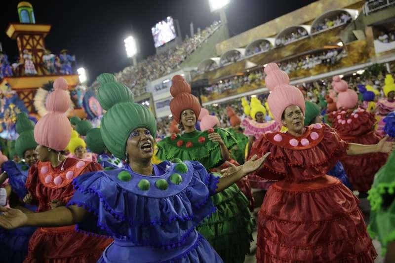 巴西一年一度的嘉年華盛會。(AP)