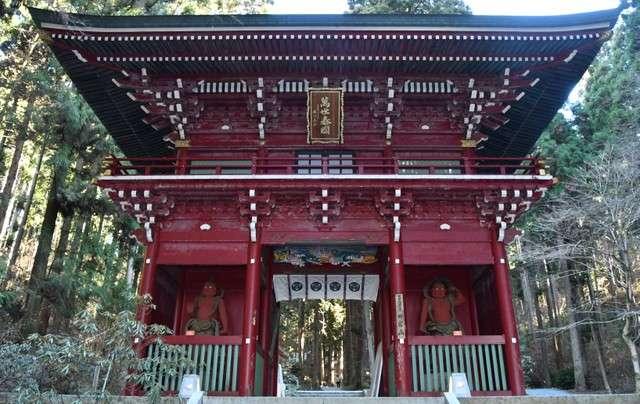 樓門安置的2座金剛力士哞形阿形像=攝於2月4日(圖/潮日本)