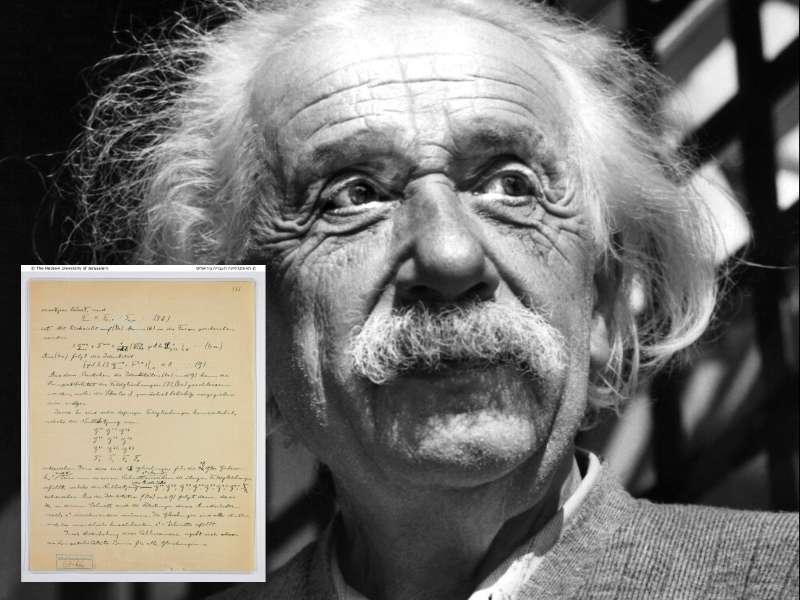愛因斯坦的「失落手稿」重現人間。(美聯社)