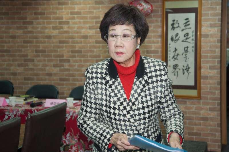 20190307-藍綠講堂3:族群認同:台灣人VS.中國人,前副總統呂秀蓮。(甘岱民攝)