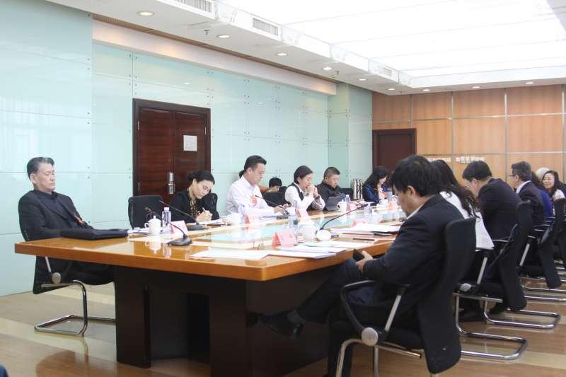中國全國政協「全國台聯」界別於兩會期間開會議政。(張家豪攝)