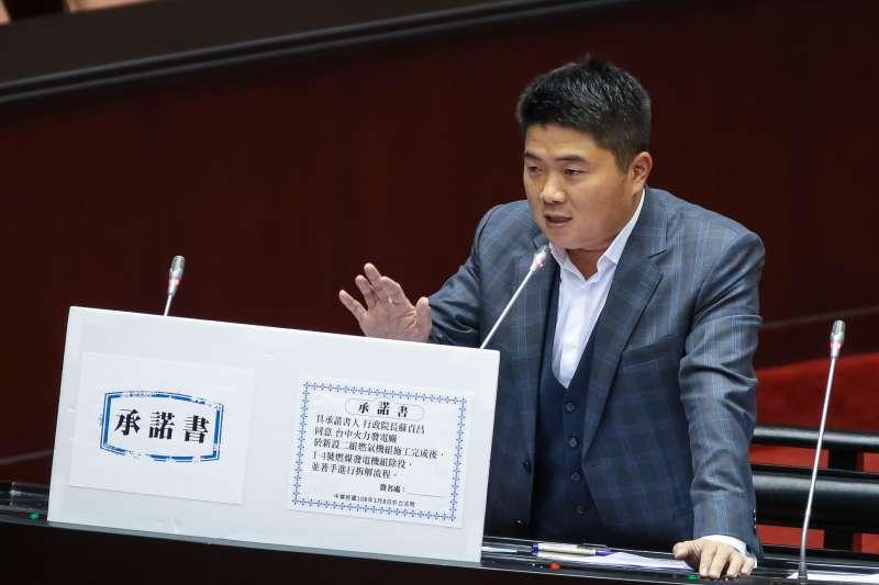 20190308-國民黨立委顏寬恒8日於立院質詢。(顏麟宇攝)