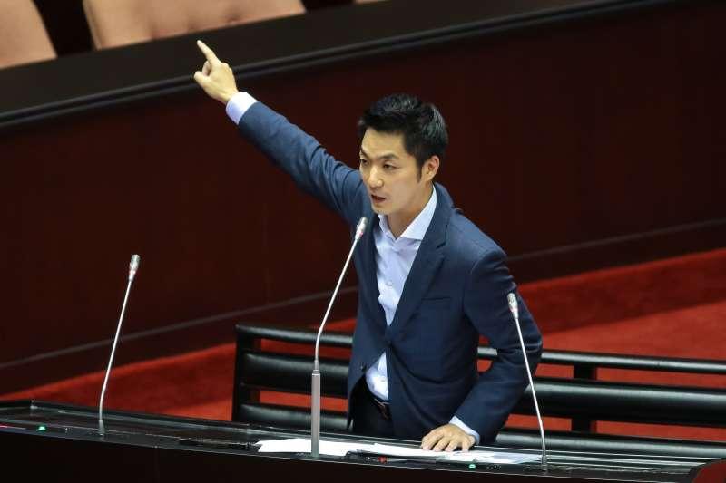 20190308-國民黨立委蔣萬安8日於立院質詢。(顏麟宇攝)