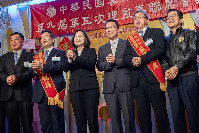 20190309-總統蔡英文今日午間出席雲林同鄉總會春酒聯誼餐會。(總統府提供)