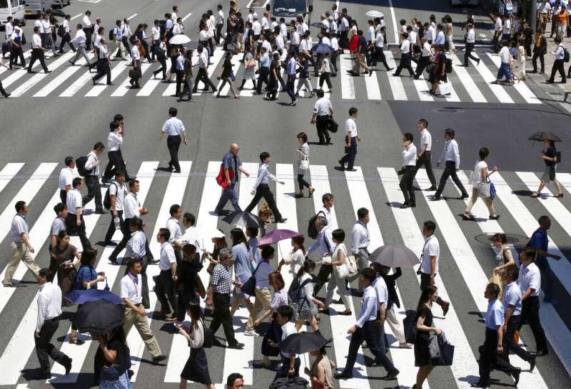 東京街頭。(美聯社)
