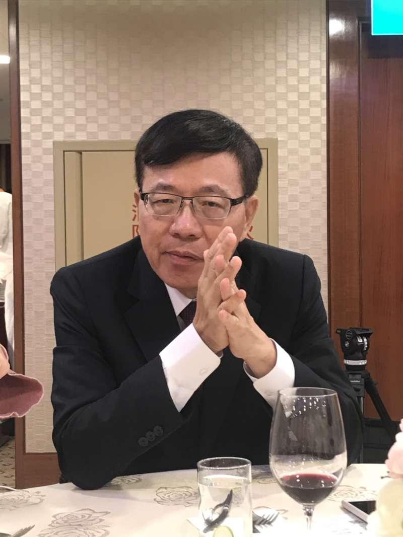 20190312-長榮航空董事長林寶水12日出席媒體春酒。(廖羿雯攝)