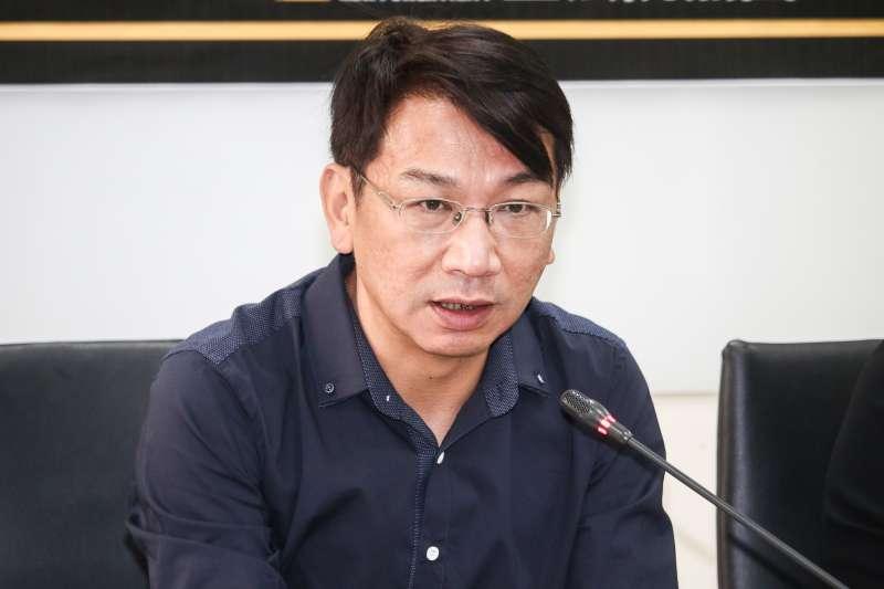 20190312-時代力量黨團會議會後記者會,圖為立委徐永明。(蔡親傑攝)