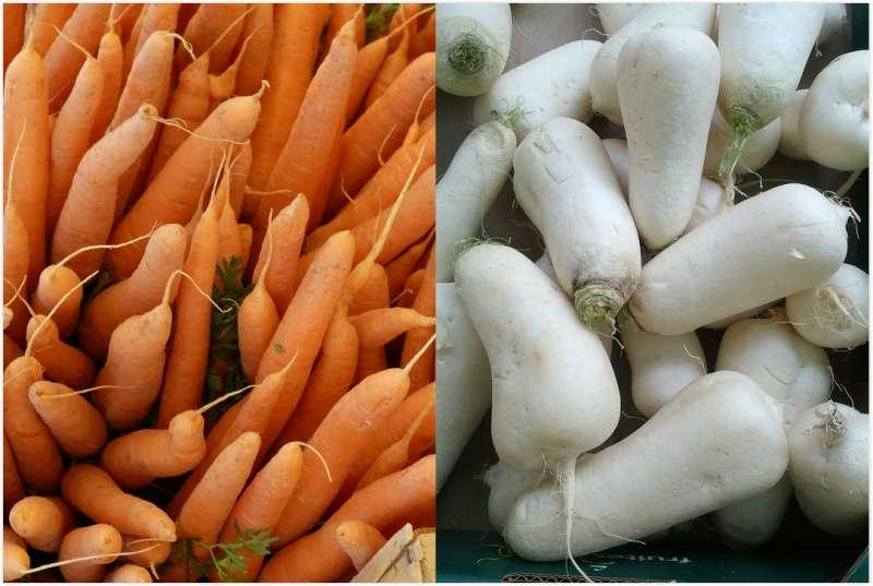 日文漢字中,紅蘿蔔是「人参」,白蘿蔔是「大根」(圖/取自pixabay)
