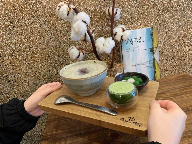 新竹美食透光棉花,一份就有多種吃法!(圖/簡子琳提供)
