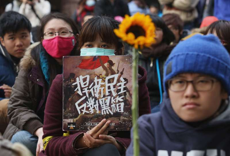 持續21天的318學運占領國會運動,讓當時的台灣人認同衝到最高點。(林瑞慶攝)