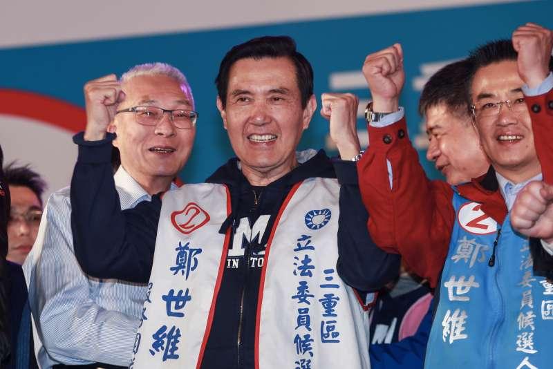 20190315-前總統馬英九15日出席國民黨立委候選人鄭士維選前之夜。(簡必丞攝)