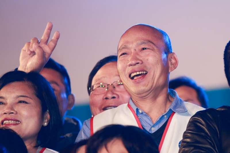 20190315-高雄市長韓國瑜15日出席國民黨立委候選人鄭士維選前之夜。(簡必丞攝)