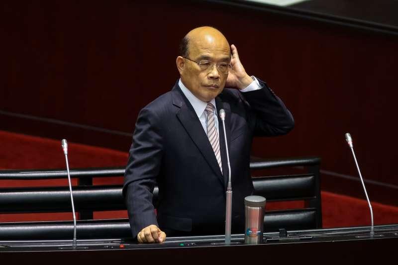 20190315-行政院長蘇貞昌15日於立院備詢。(顏麟宇攝)