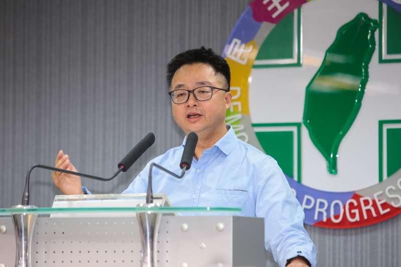 20190316-民進黨秘書長羅文嘉16日針對立委補選結果召開記者會說明。(顏麟宇攝)