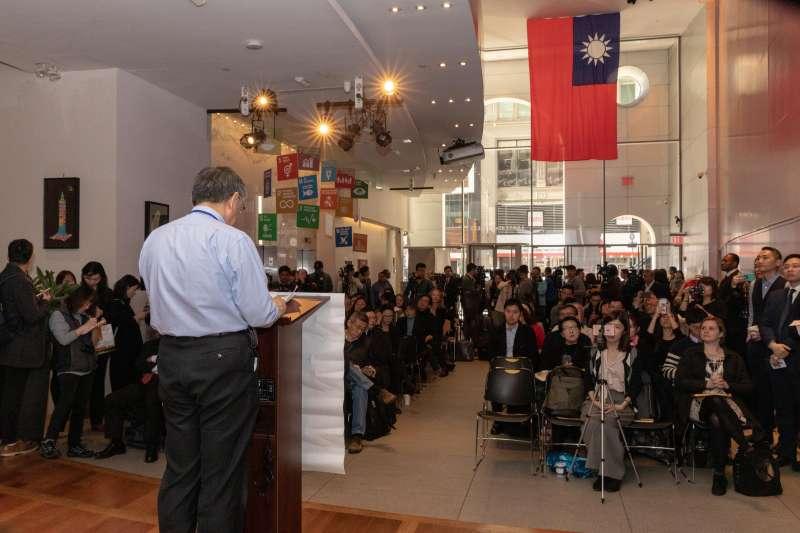 20190318-柯文哲在台北市永續發展簡報會中表示,適當的性別平等政策可以解決勞動力短缺和低出生率,從而提高城市的競爭力。(取自台北市政府)