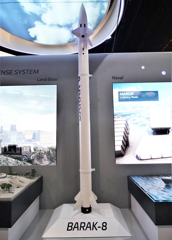 以色列的巴拉克八型防空飛彈,攝於新加坡航空展。(圖/想想論壇)