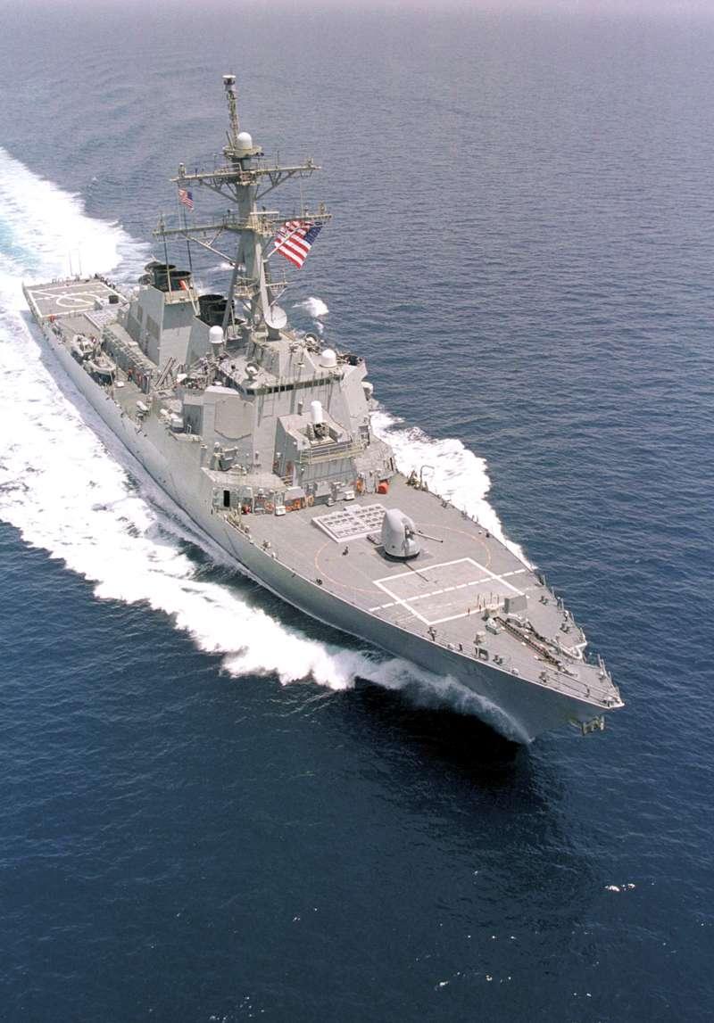 美國海軍「阿利伯克級」(Arleigh Burke-class)飛彈驅逐艦「柯蒂斯.威爾伯號」(USS Curtis Wilbur)(Wikipedia / Public Domain)