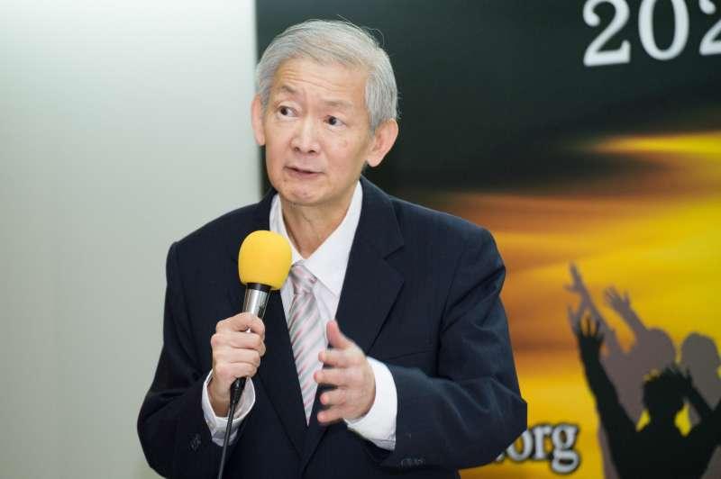 20190325-台灣民意基金會舉辦「2020台灣總統 大選初探(二)」民調發表會,前研考會主委林嘉誠。(甘岱民攝)