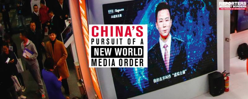 20190325-無國界記者組織25日發布《中國追求的世界傳媒新秩序》報告,探究北京政府控制境外資訊策略,其中指台灣一直是中國不實資訊主要操作目標,並提及旺旺中時媒體集團及外交官之死。(取自無國界記者組織RSF官網)