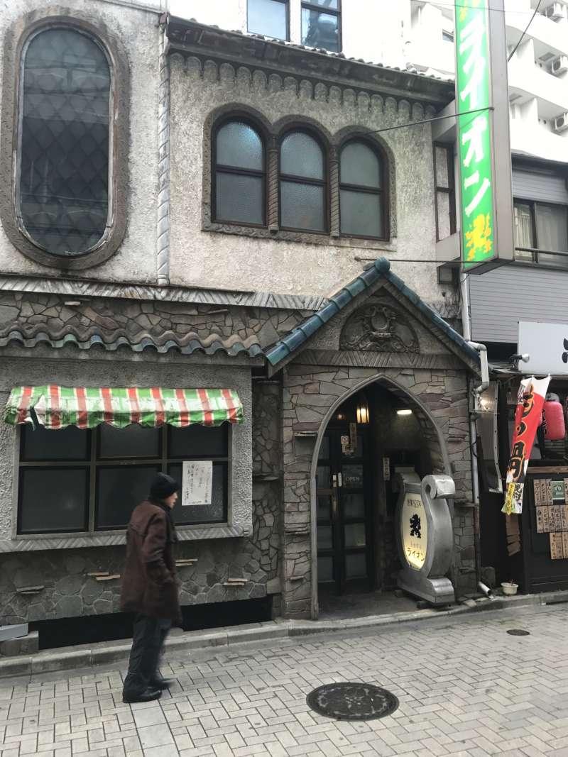 20190326-位於東京都澀谷區道玄坂2-19-13的名曲喫茶店LION咖啡館。(李清志攝)