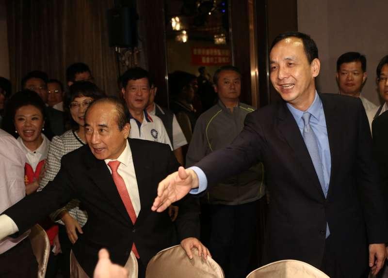 王金平(左)、朱立倫(右)對黨中央處理總統提名方式都有怨言。(新新聞資料照)