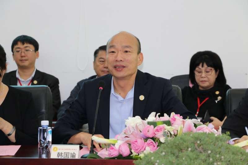 高雄市長韓國瑜港澳中國大陸參訪行程最後一天。(高雄市政府提供)