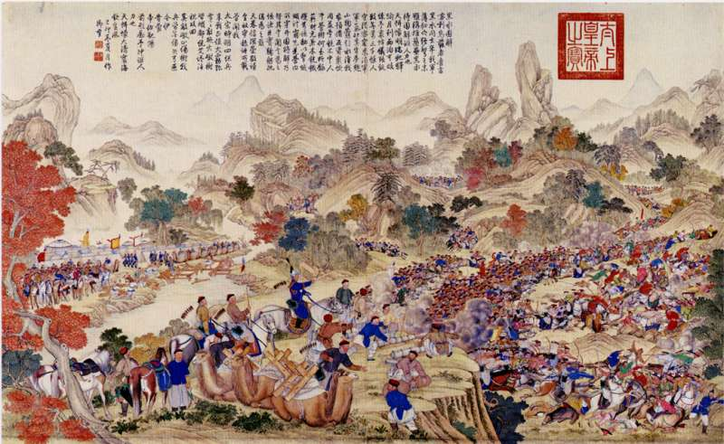 兆惠在黑水突圍(圖/維基百科)