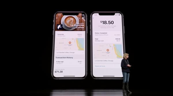 Apple Card紀錄消費地點,讓用戶更好追蹤每筆信用卡消費狀態。(圖/Apple,數位時代提供)