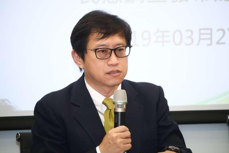 20190327-宋承恩(台灣制憲基金會副執行長)27日出席「最新兩岸關係、國族認同、制憲與2020總統仿初選評估」民意調查發布記者會。(蔡親傑攝)