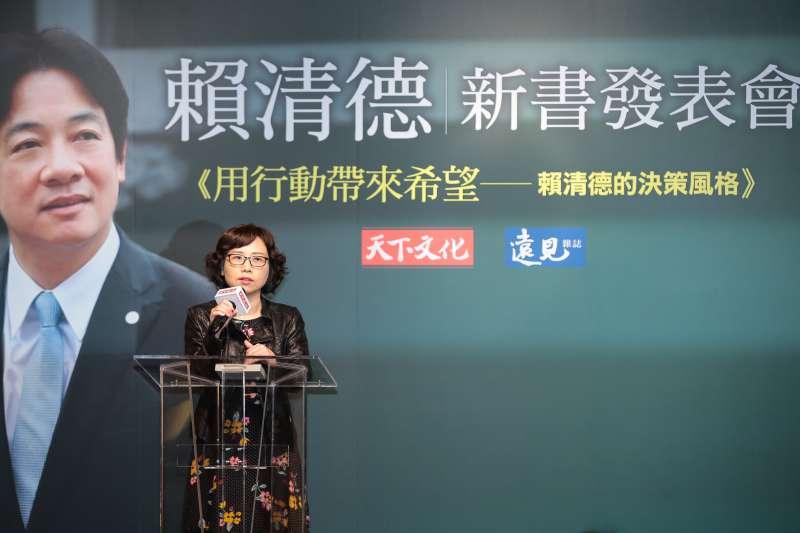 20190329-本書作者郭瓊俐29日出席「用行動帶來希望─賴清德的決策風格」新書發表會。(顏麟宇攝)