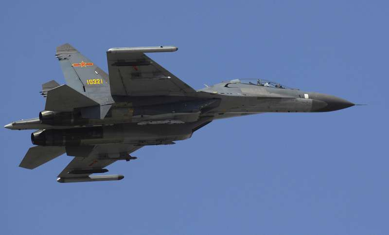 2007年3月24日_共軍殲-11S戰機。(取自維基百科,版權屬公有領域)
