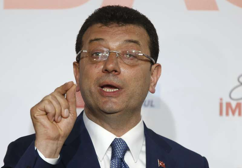 土耳其在野黨「共和人民黨」推派的伊斯坦堡市長候選人伊瑪莫魯(美聯社)