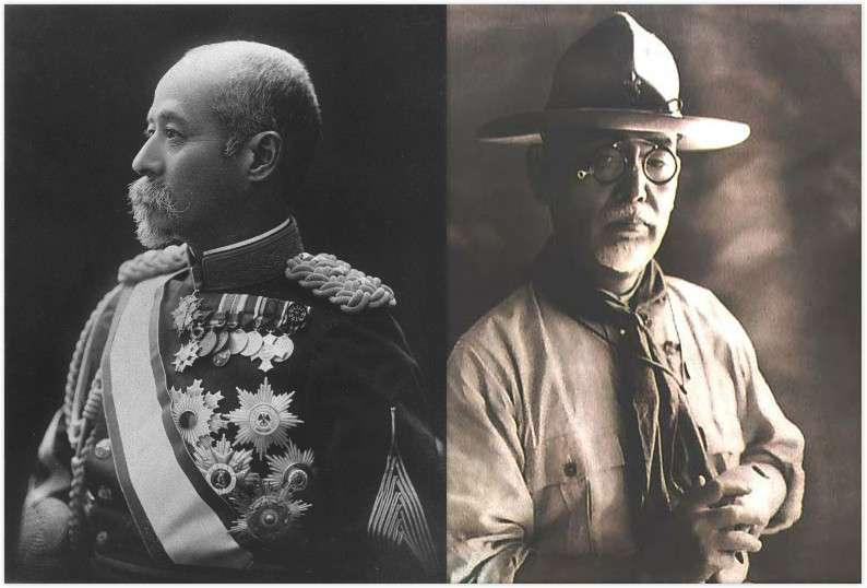 左為第四任總督兒玉源太郎,右為民政長官後藤新平(圖/維基百科)