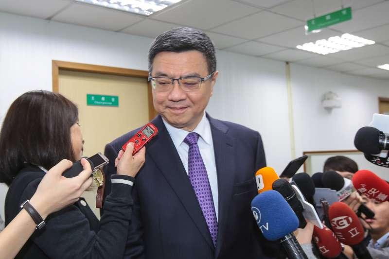 20190403-民進黨主席卓榮泰3日出席民進黨中執會。(顏麟宇攝)