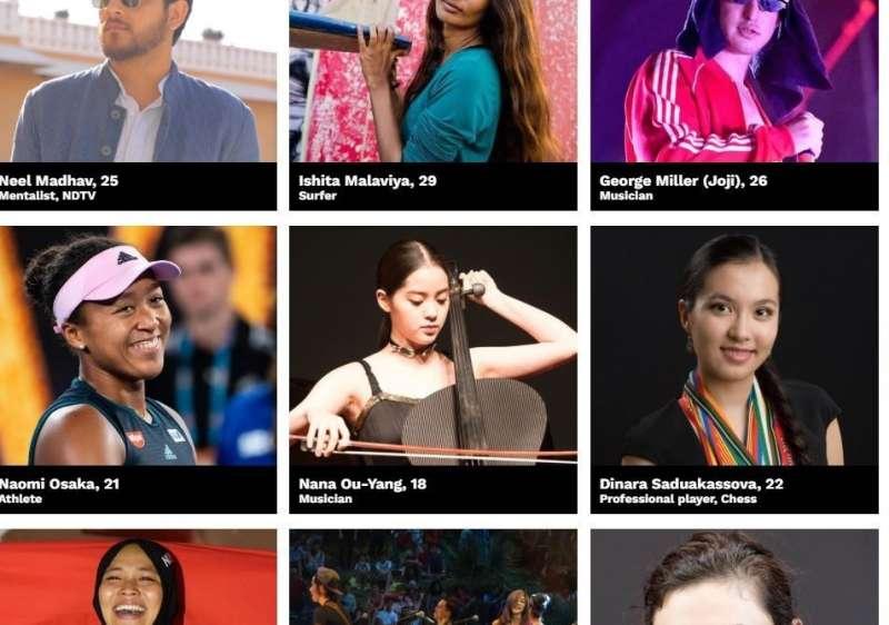 今年台灣僅大提琴家歐陽娜娜一人入圍「30 under 30」榜單。(圖/Forbes)